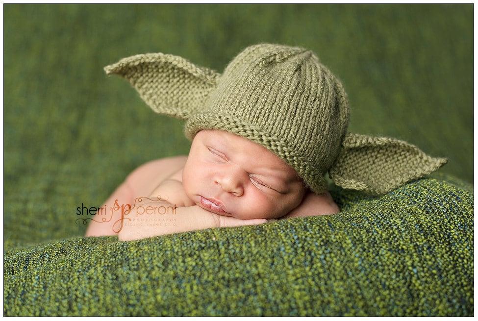 Newborn to 3 months Yoda Hat Star Wars Photo Prop