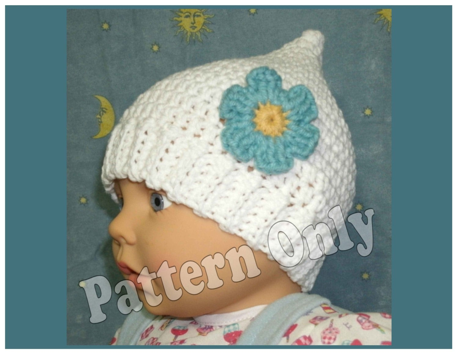 Newborn Gnome Hat Crochet Pattern : Crochet Pattern Newborn Size Pointy Gnome Hat by ...