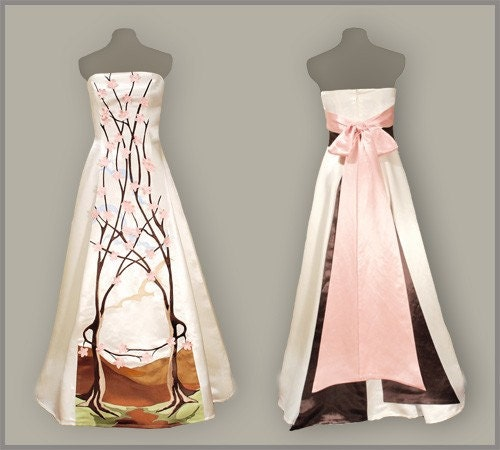 April eco friendly long strapless wedding dress by for Eco friendly wedding dresses
