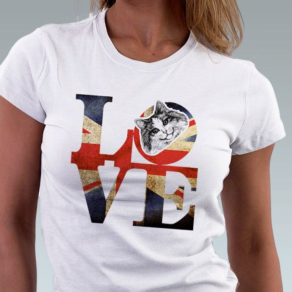 Cat T Shirt Love Philadelphia Vintage Punk British By