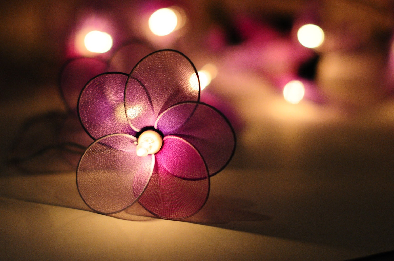 christmas sale flower handmade in light purple by cottonlight