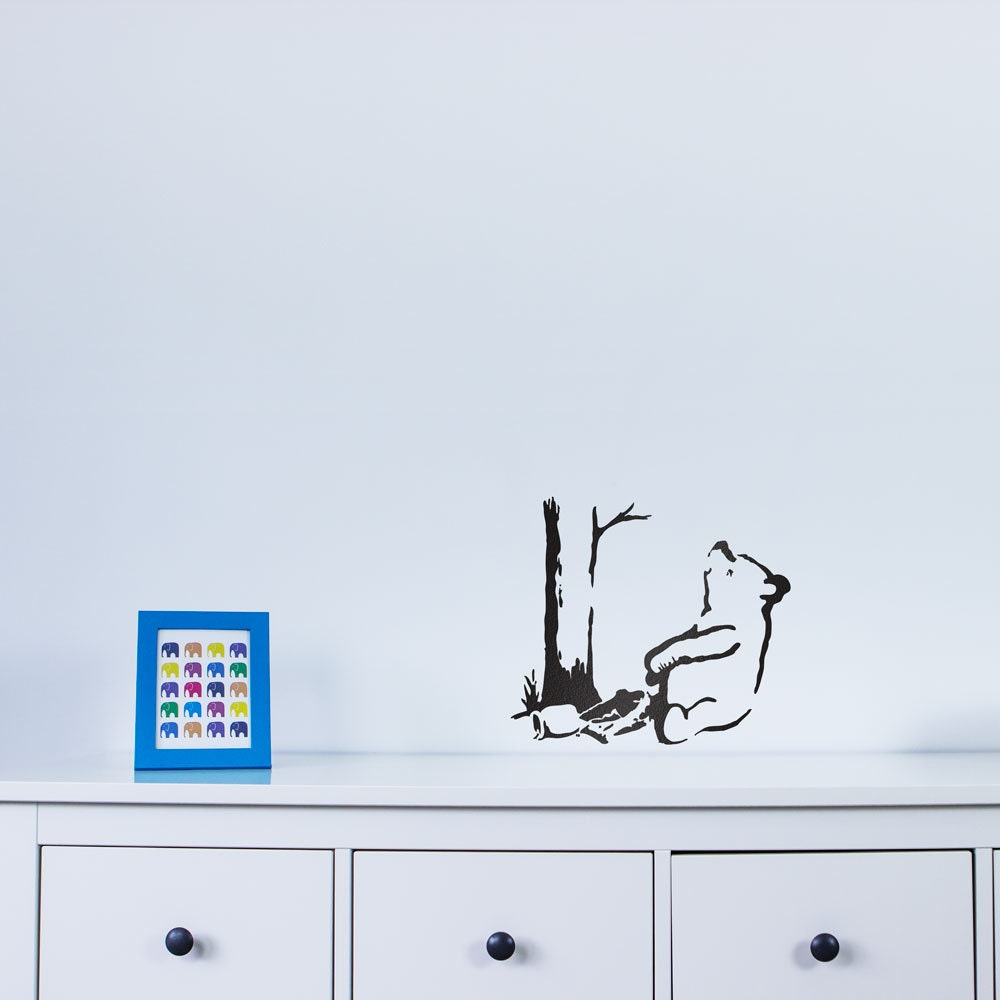Banksy Trapped Pooh Bear Vinyl Wall Art Decal