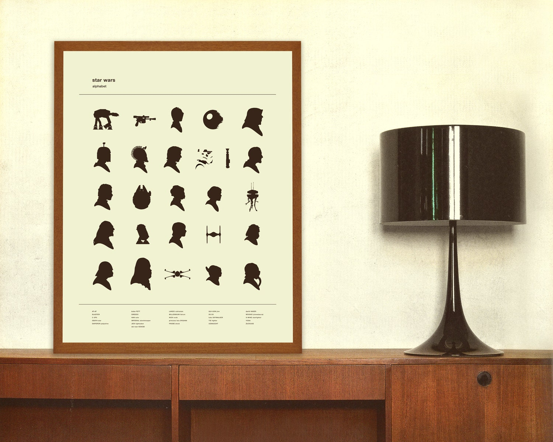 ALPHABET Star Wars Inspired Poster Nursery by ...