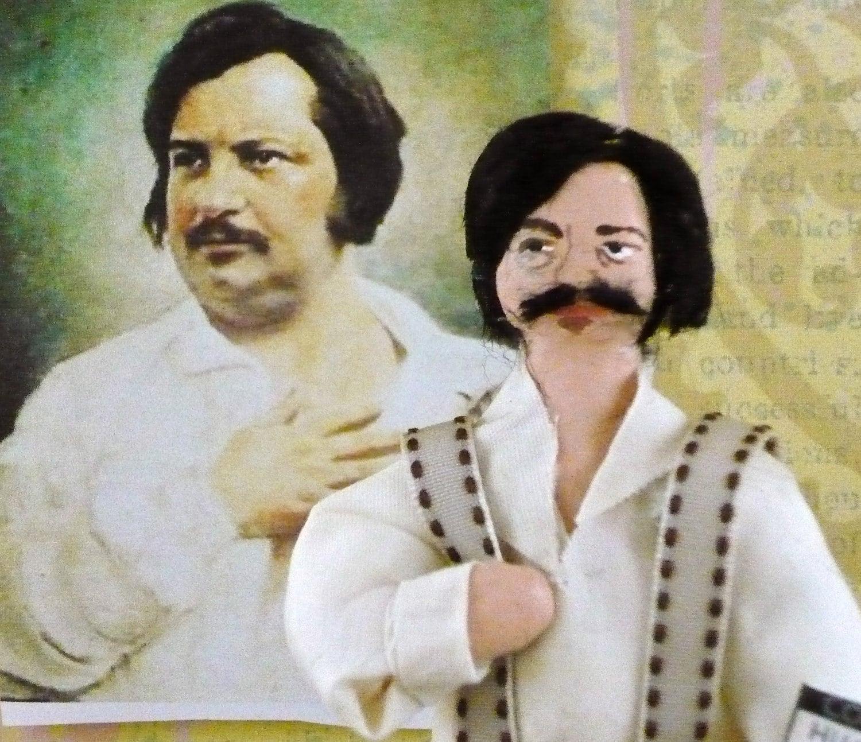 Honore de Balzac French Author Miniature Writer Doll