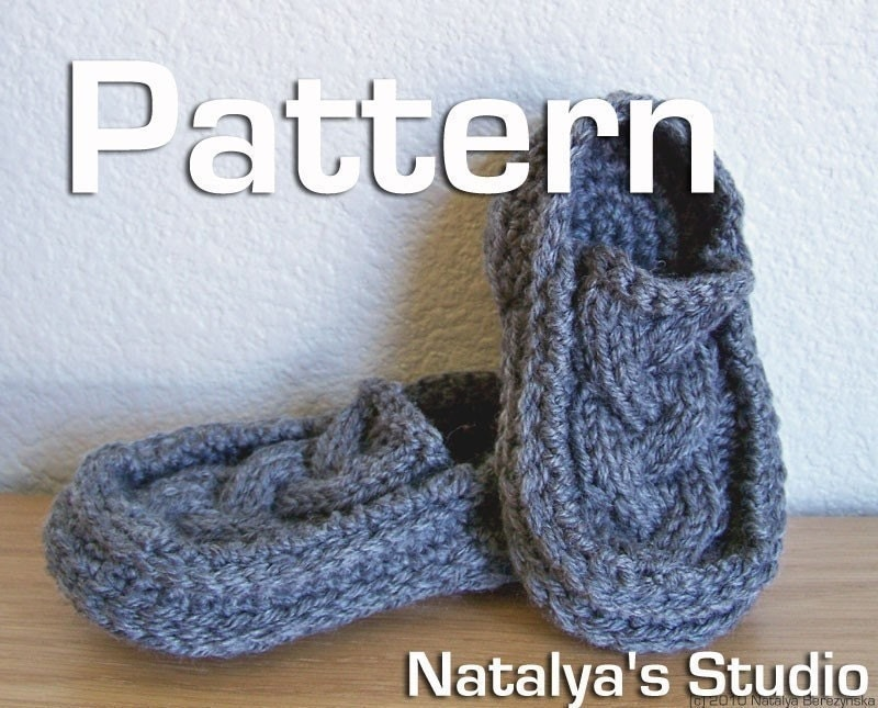 Knit Crochet Baby Booties Pattern Cabled Moccasin by ...