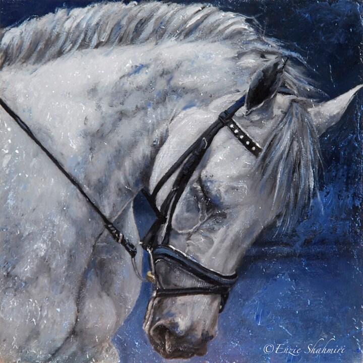"Horse Print - Equine 10x10"" Fine Art Illustration Print - PetPortraitsbyNC"