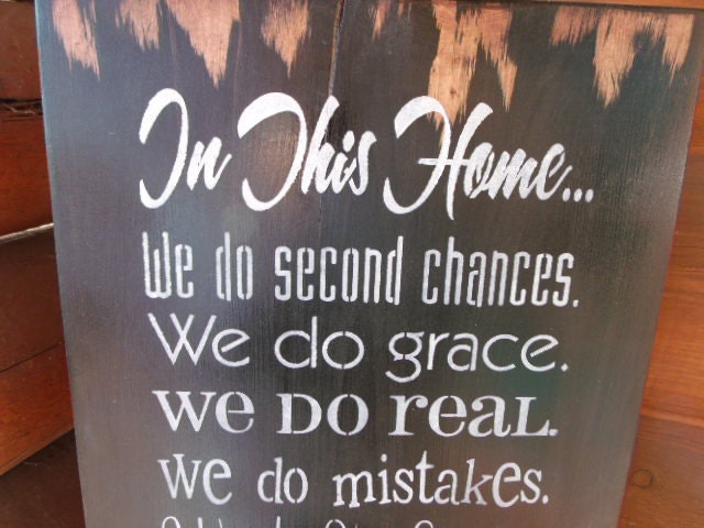 In This Home We DoHand Painted Rustic Wooden Sign by TheCraftCabin