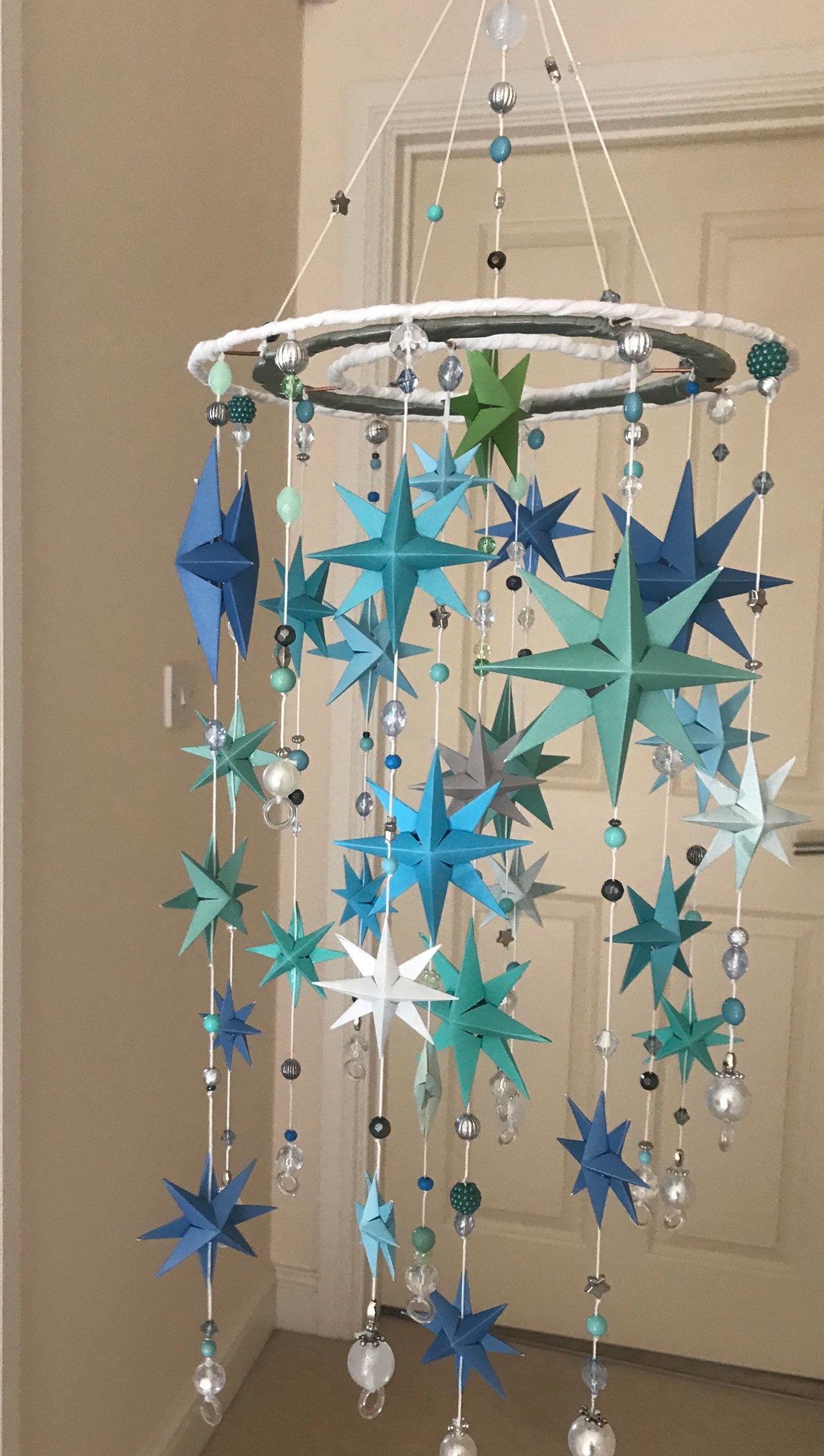 Skyfall.. a shower of stars. A mobile for that special person to wake up to.