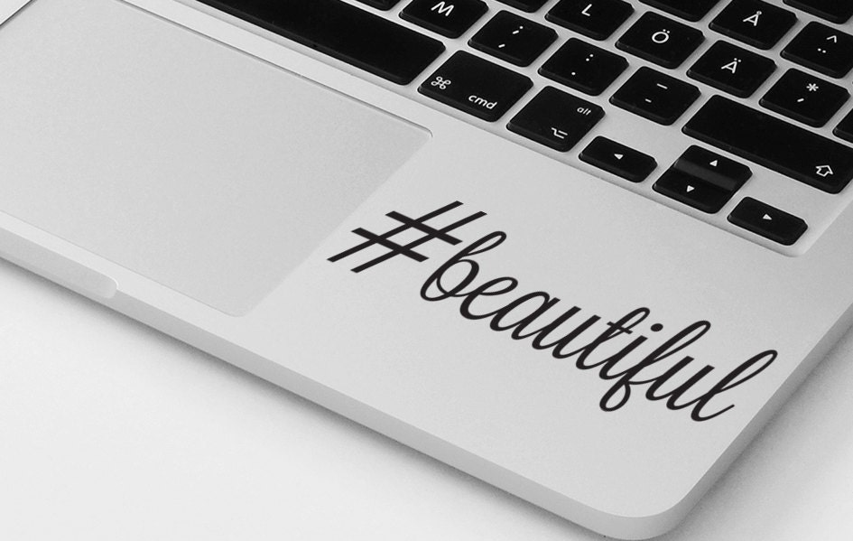 Macbook air pro sticker decal motivational quote laptop notebook inspirational sticker beautiful positive quote