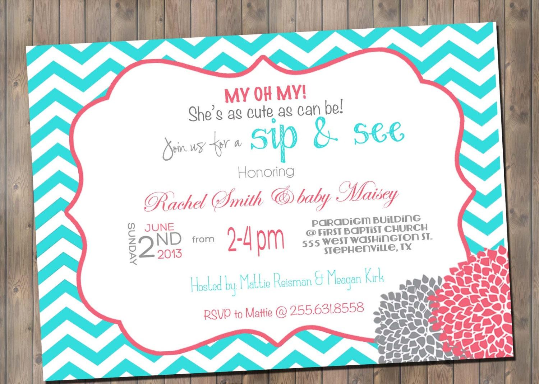 Custom Made Baby Shower Invitations was beautiful invitation example