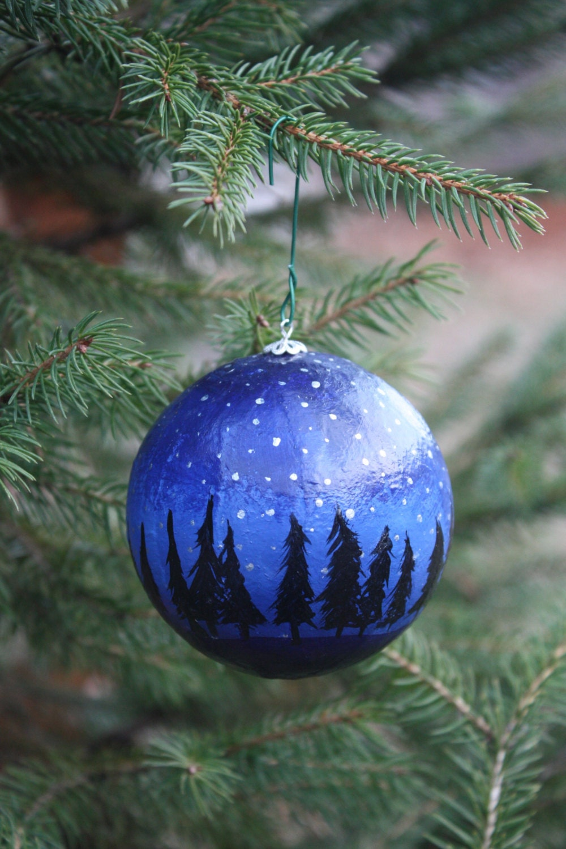 Hand painted Christmas ornament - roseymorris