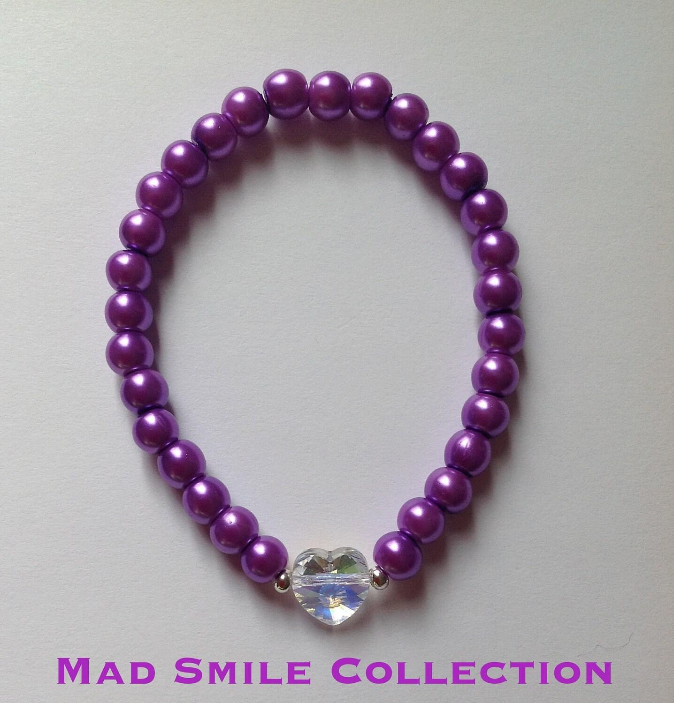 Swarovski Heart Purple Bracelet