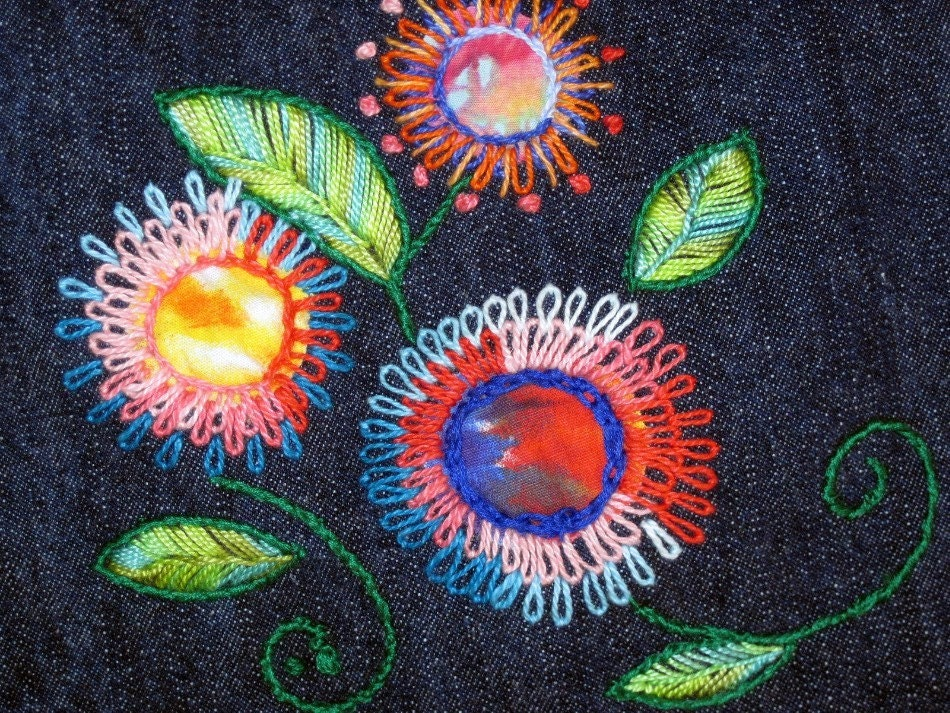 The Mexican Paper Flower Shawl | Hand Embroidery Pattern for Rebozo