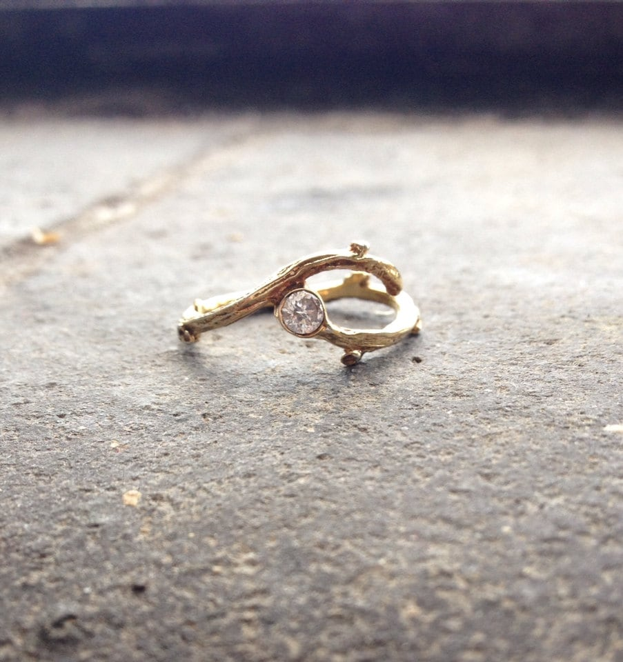 Forage Ring - Gold and Diamond - Alternative Engagement Ring - MichelleOhJewellery