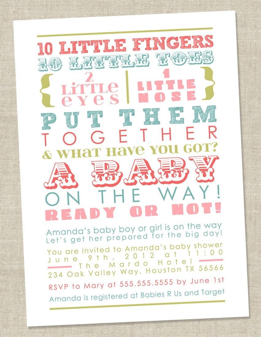 Baby Shower Invitation Wording No Gender | Baby Shower Invitations
