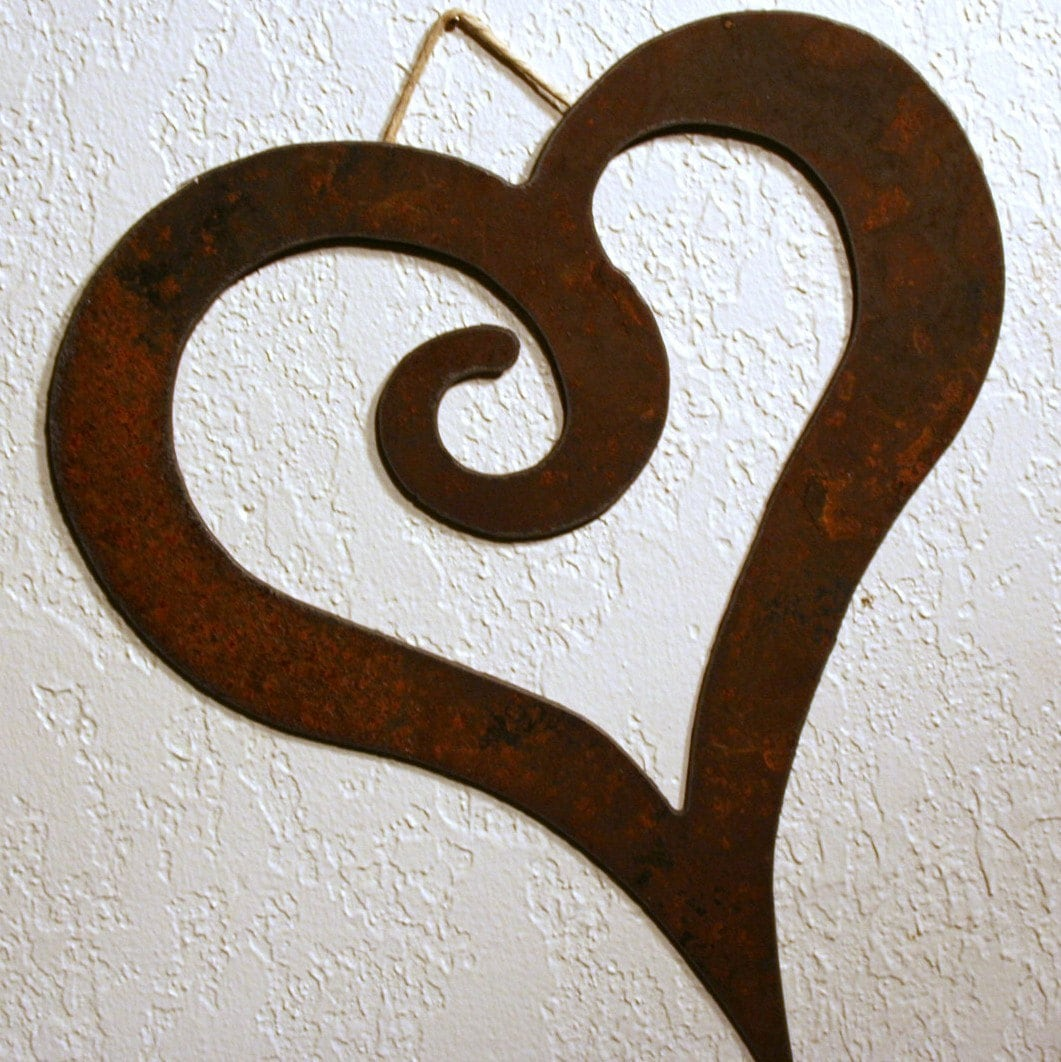 Rustic Swirl Heart Wall Decor by fttdesign on Etsy