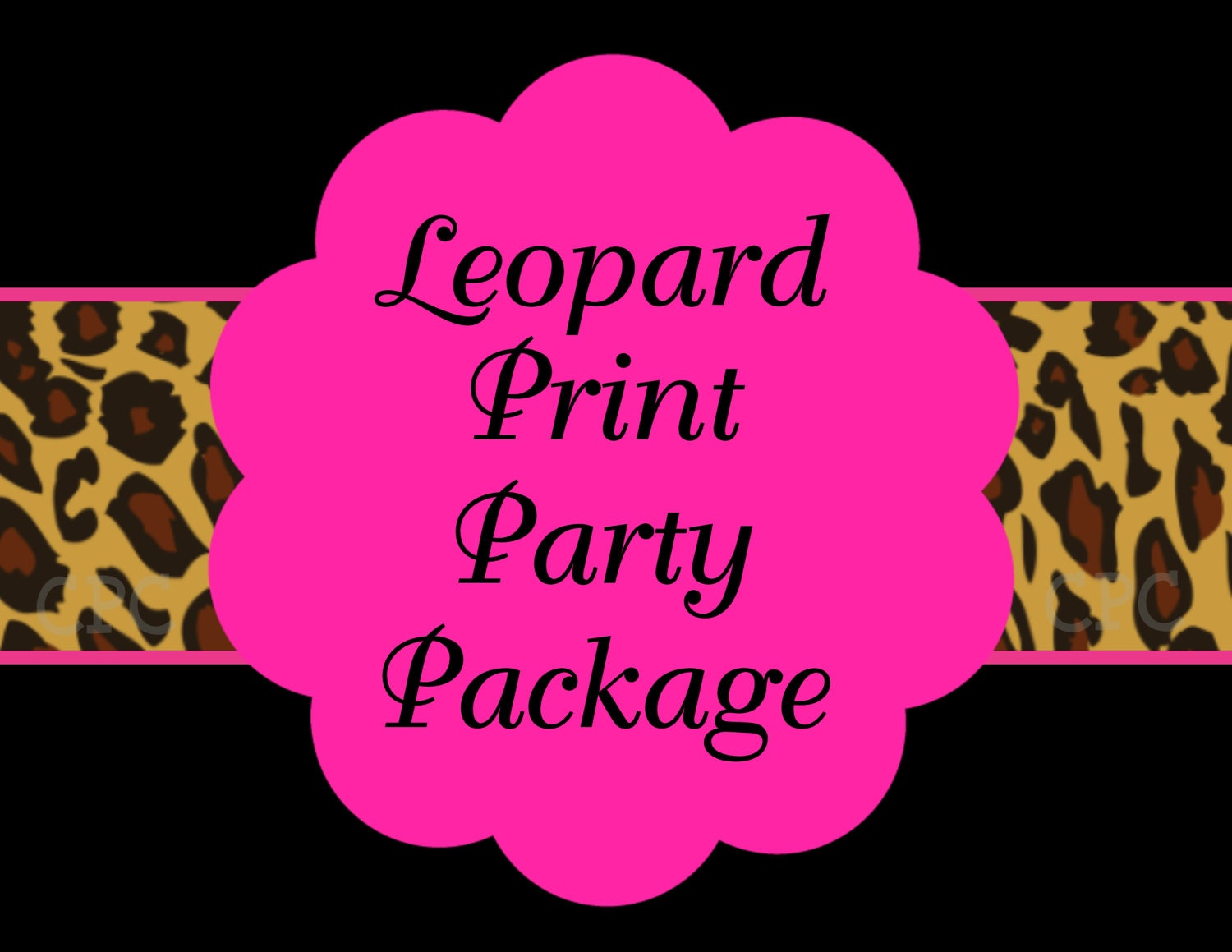 Hot pink leopard 1st birthday invitation by for Animal print decoration party