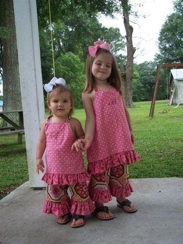 BEGINNER Boutique Dress Top with Ruffle and Boutique Bottoms Sewing Pattern - PDF DOWNLOADABLE
