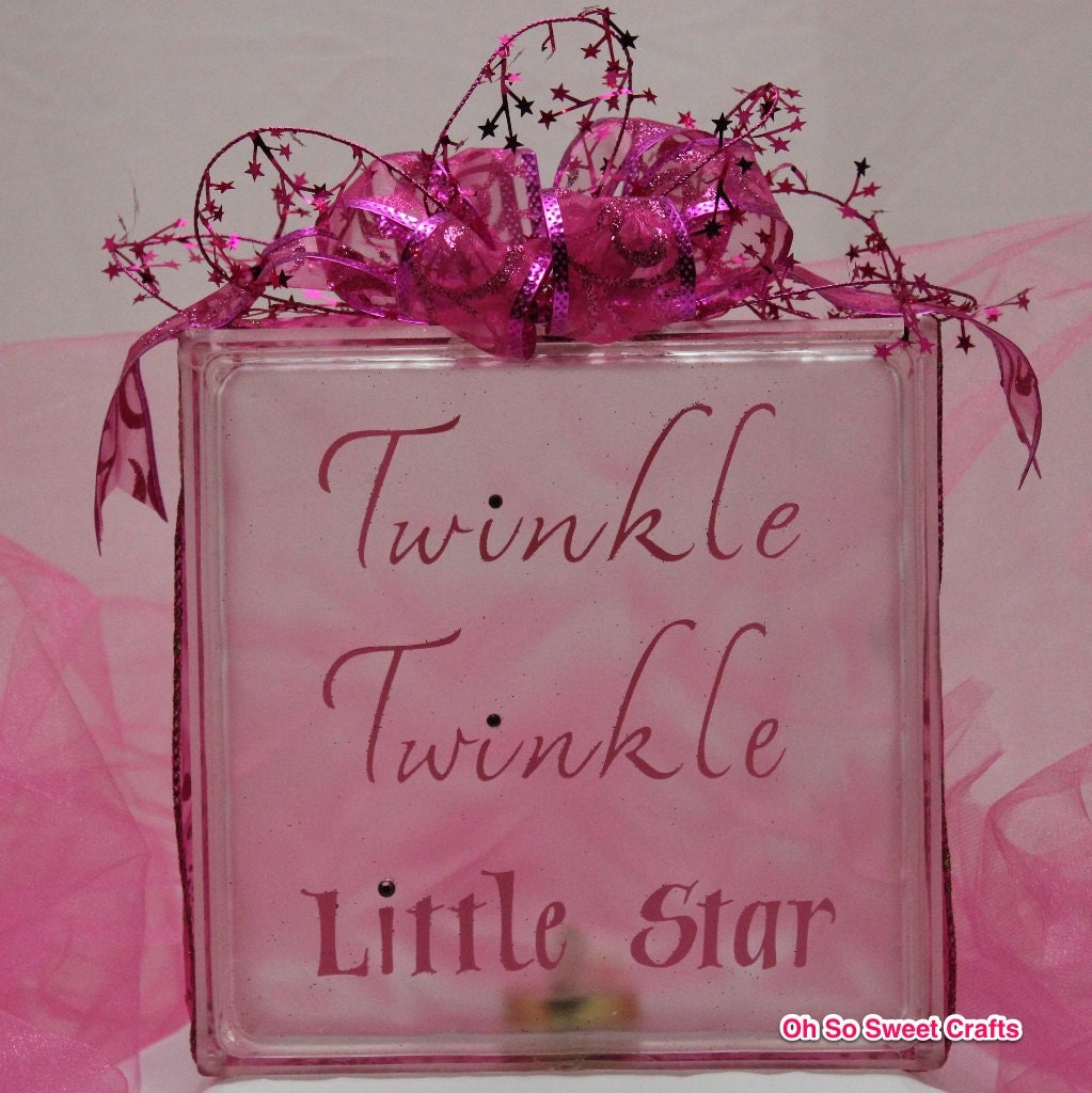 Twinkle twinkle little star acrylic glass block by for Acrylic glass blocks