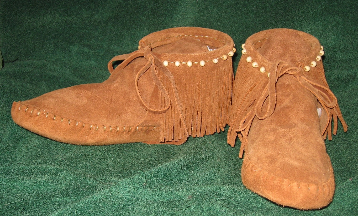 Handmade native american beaded southwestern style moccasins