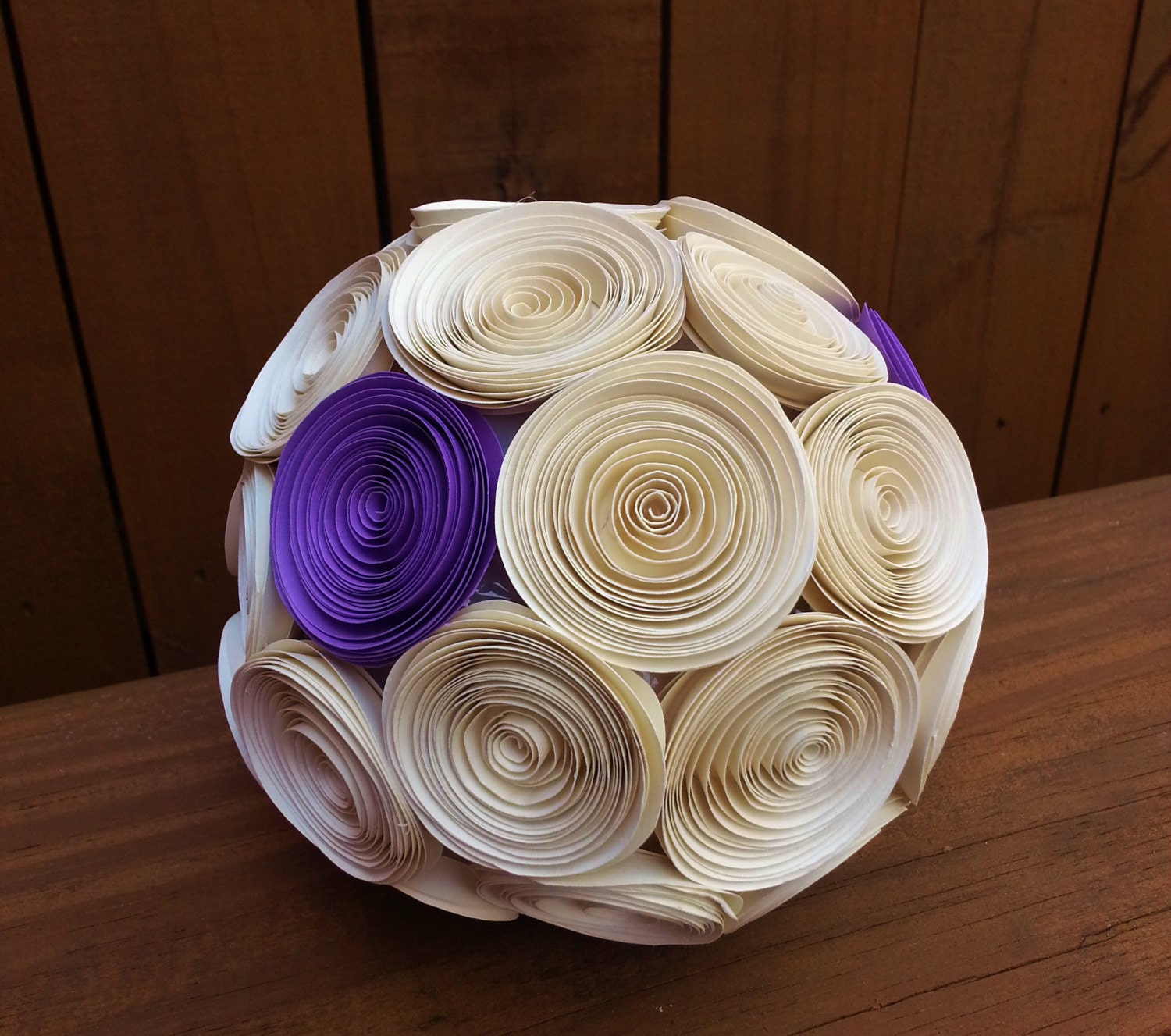 Paper Flower Balls For Wedding Wedding Kissing Ball Paper Flower Wedding Pomander Ball Perfect As