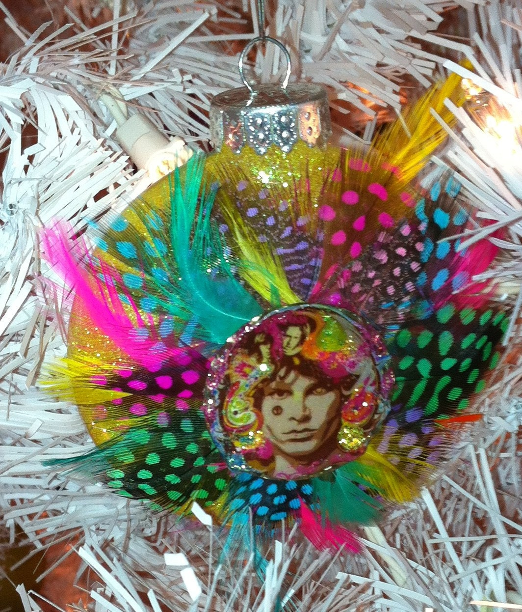 JIM MORRISON The DOORS Glass Glitter Resin By