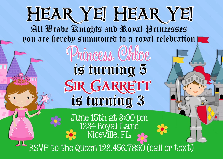 Similiar Princess And Knight Invitation Wording Keywords – Knight Birthday Party Invitations