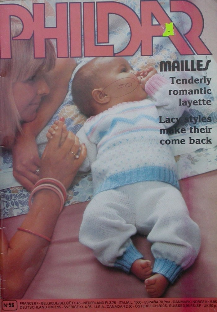 Knitting Patterns Phildar : PHILDAR BABY KNITTING PATTERNS MAGAZINE by TheHowlingHag on Etsy