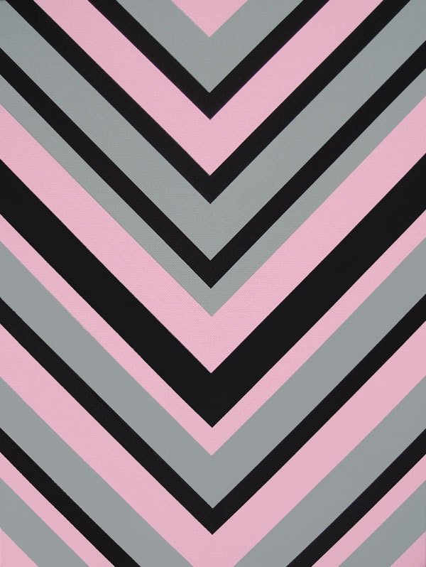 Pink black and grey chevron pattern design modern by shauno Design patterns wall painting