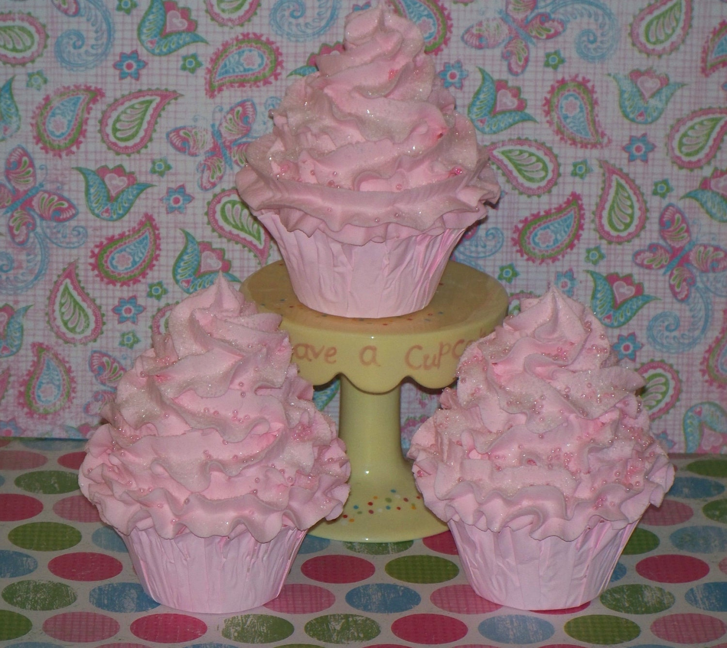 Fake Cotton Candy: Items Similar To Pink Cotton Candy FAKE CUPCAKES, Birthday