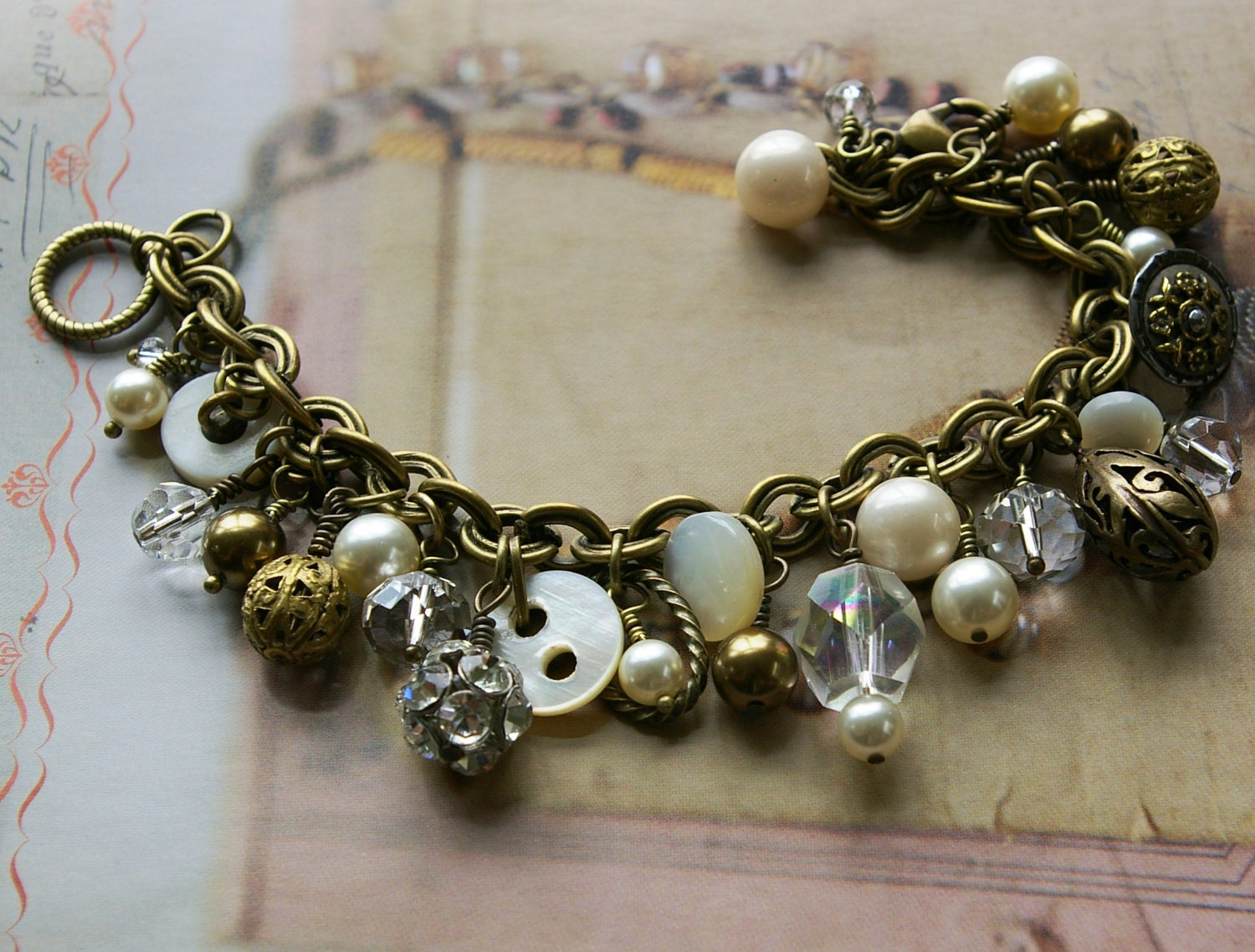 button bracelet antique button jewelry of by verydonna