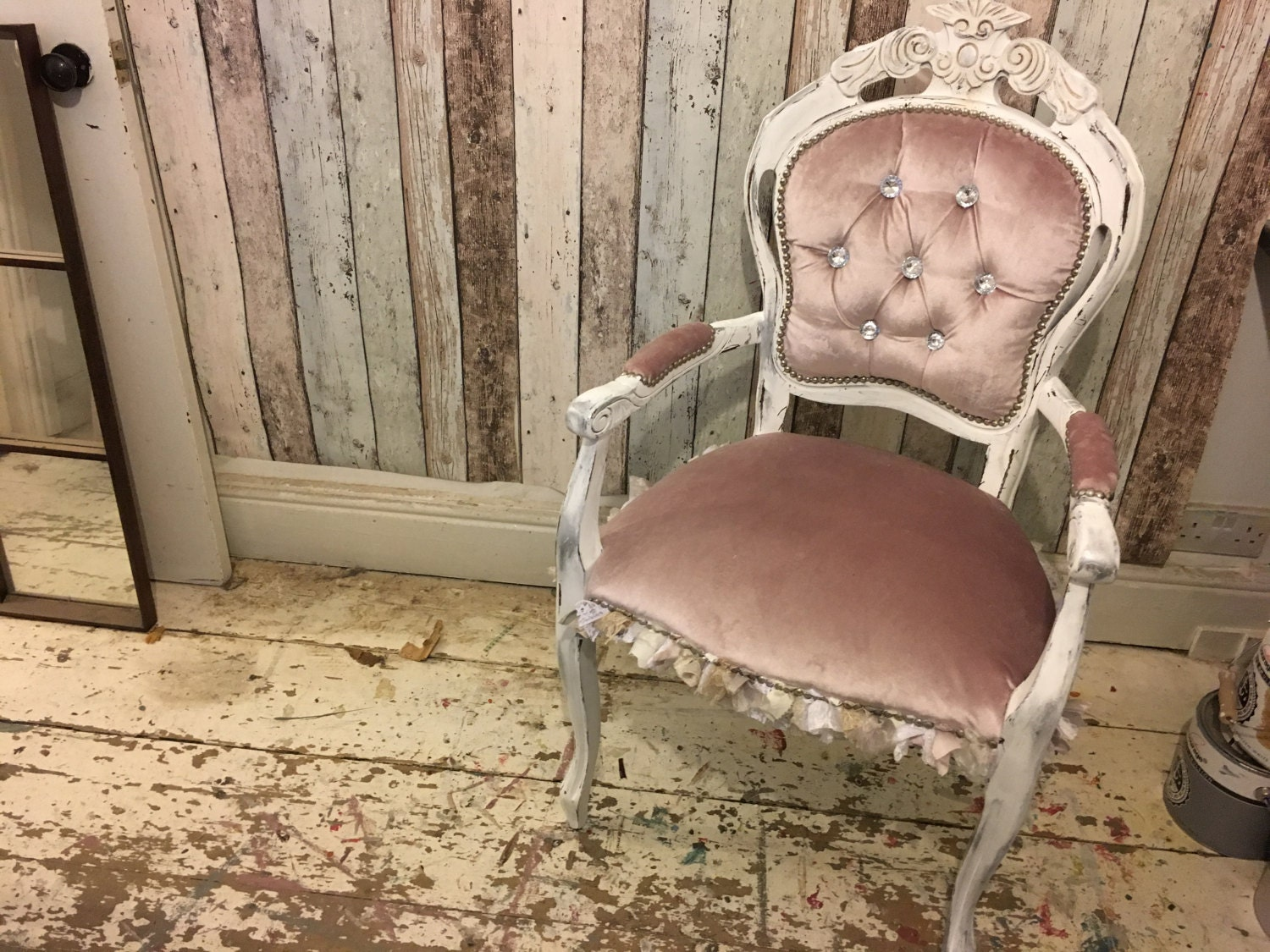 Ballerina Rococo Chair French Italian Louis Chair Bedroom Shabby Chic