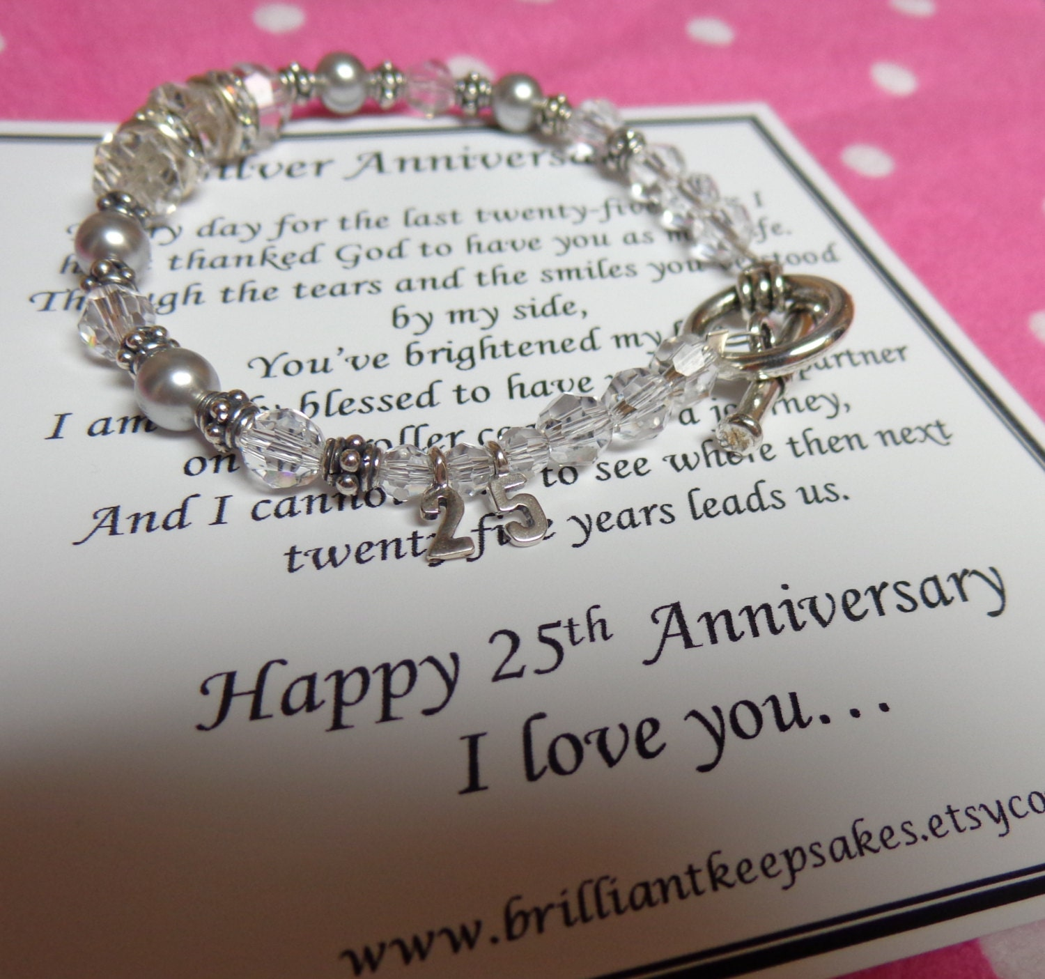 Th wedding silver anniversary gift for by brilliantkeepsakes