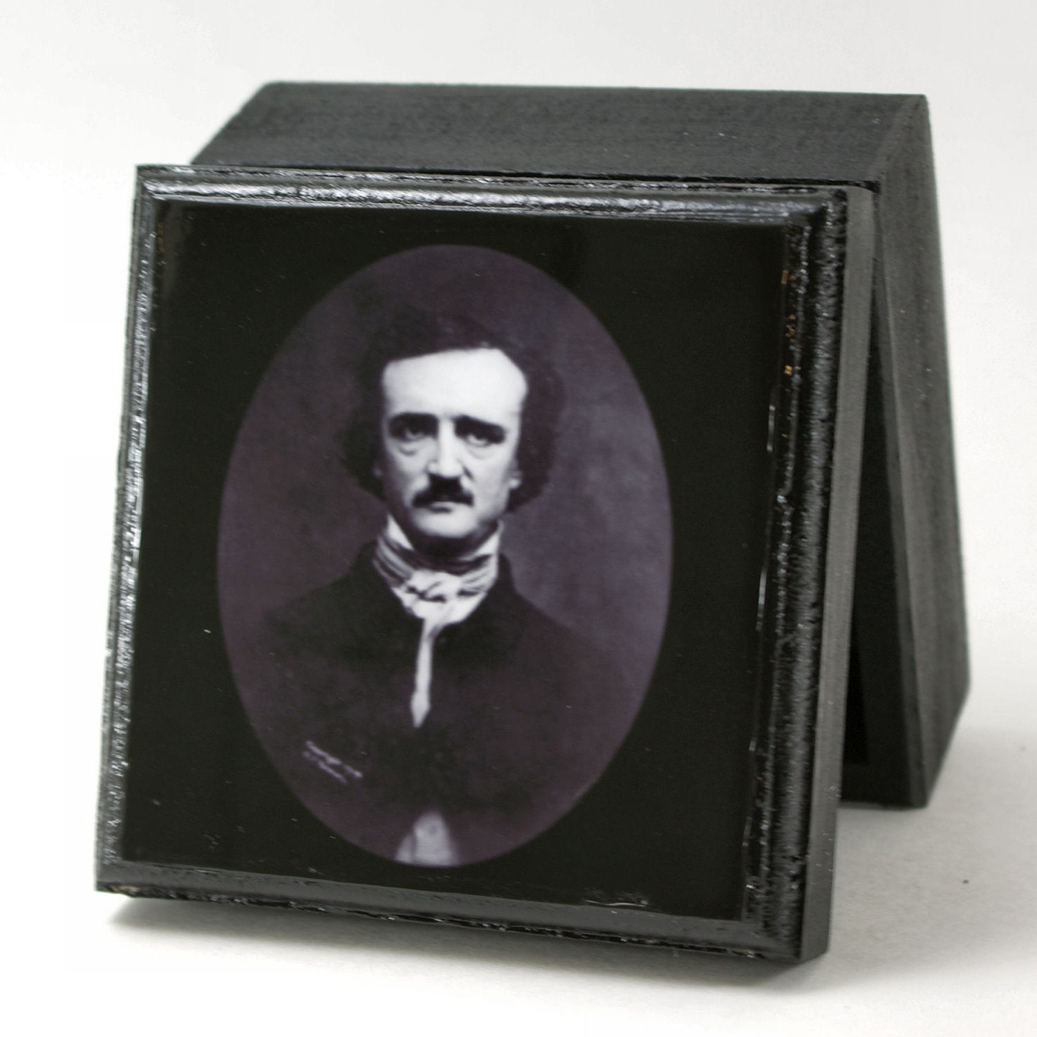 Edgar Allen Poe Famous Poets Small Trinket Box Jewelry box Stash Box - KindredImages