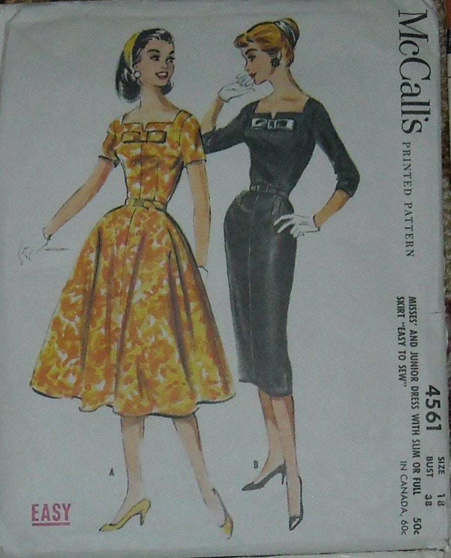 items similar to vintage mccalls pencil skirt dress