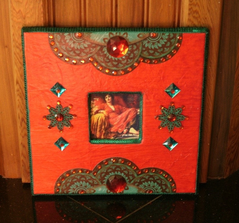 Red Gypsy Moroccan Wall Photo Frame or Wall Decor by CreoleGypsy