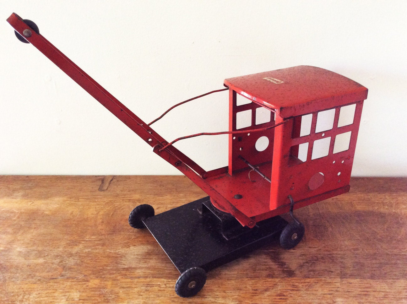 Vintage Triang Tinplate Crane Triang Toy Crane 1950s Childrens Toys Vintage Toys