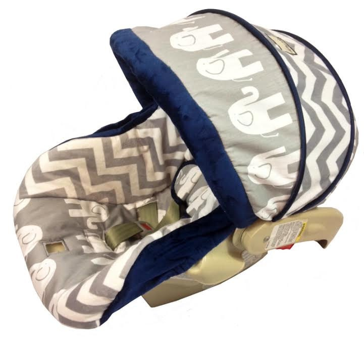 Items Similar To Elephant And Chevron Grey Infant Car Seat