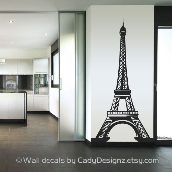 Eiffel Tower Vinyl Wall Decal Home Decor Nursery Wall