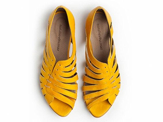 Gilly yellow flat sandals - TamarShalem