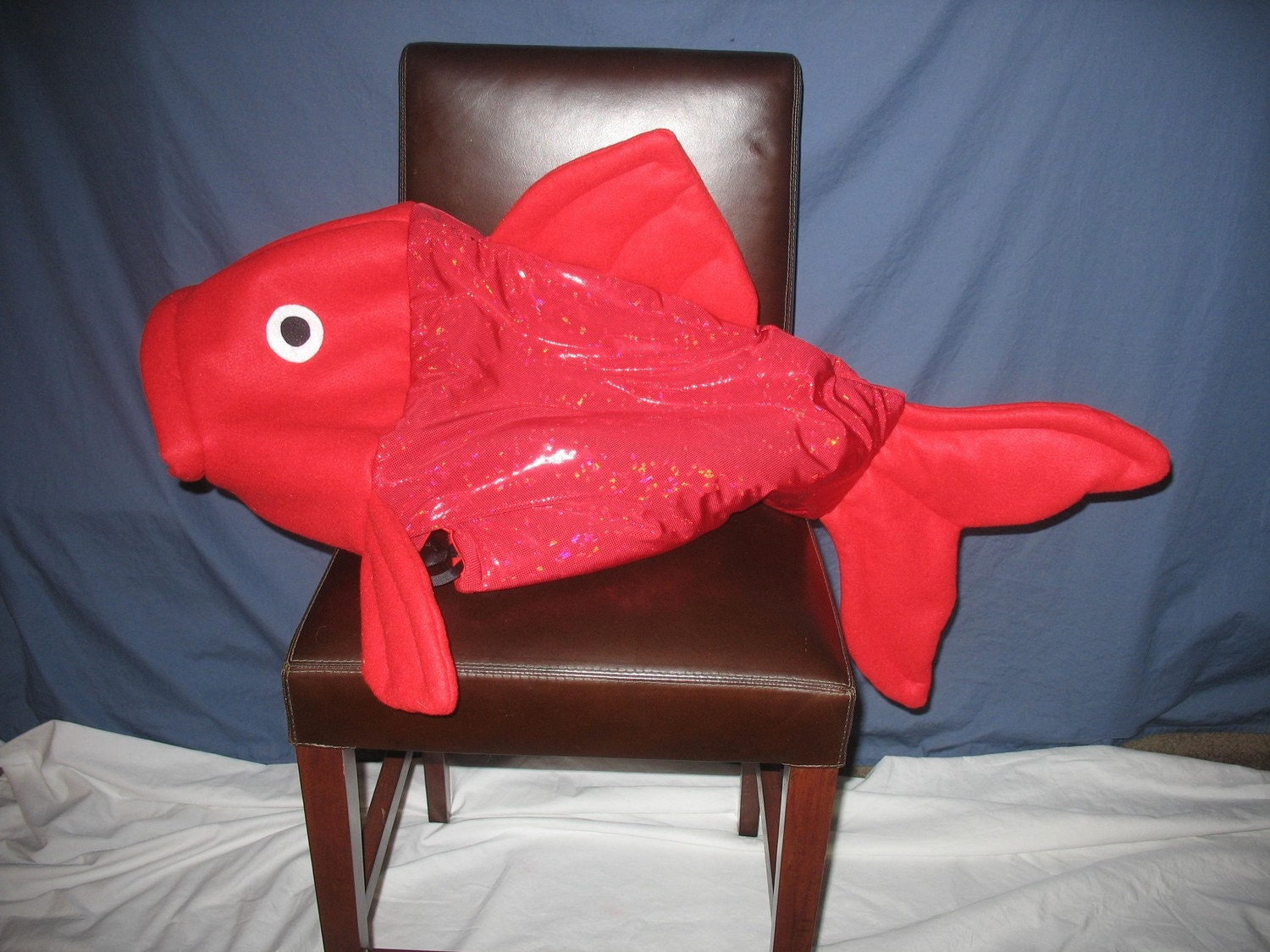 Special order red fish costume anna dimarco by lauriesgift for Fish head costume