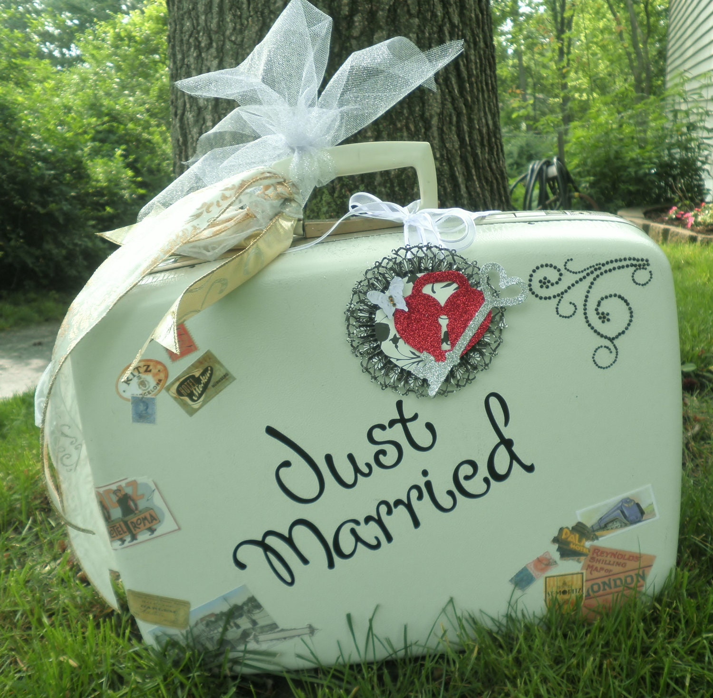 Vintage Wedding Gift Card Holder : Vintage Suitcase Wedding Card Holder by posey616 on Etsy