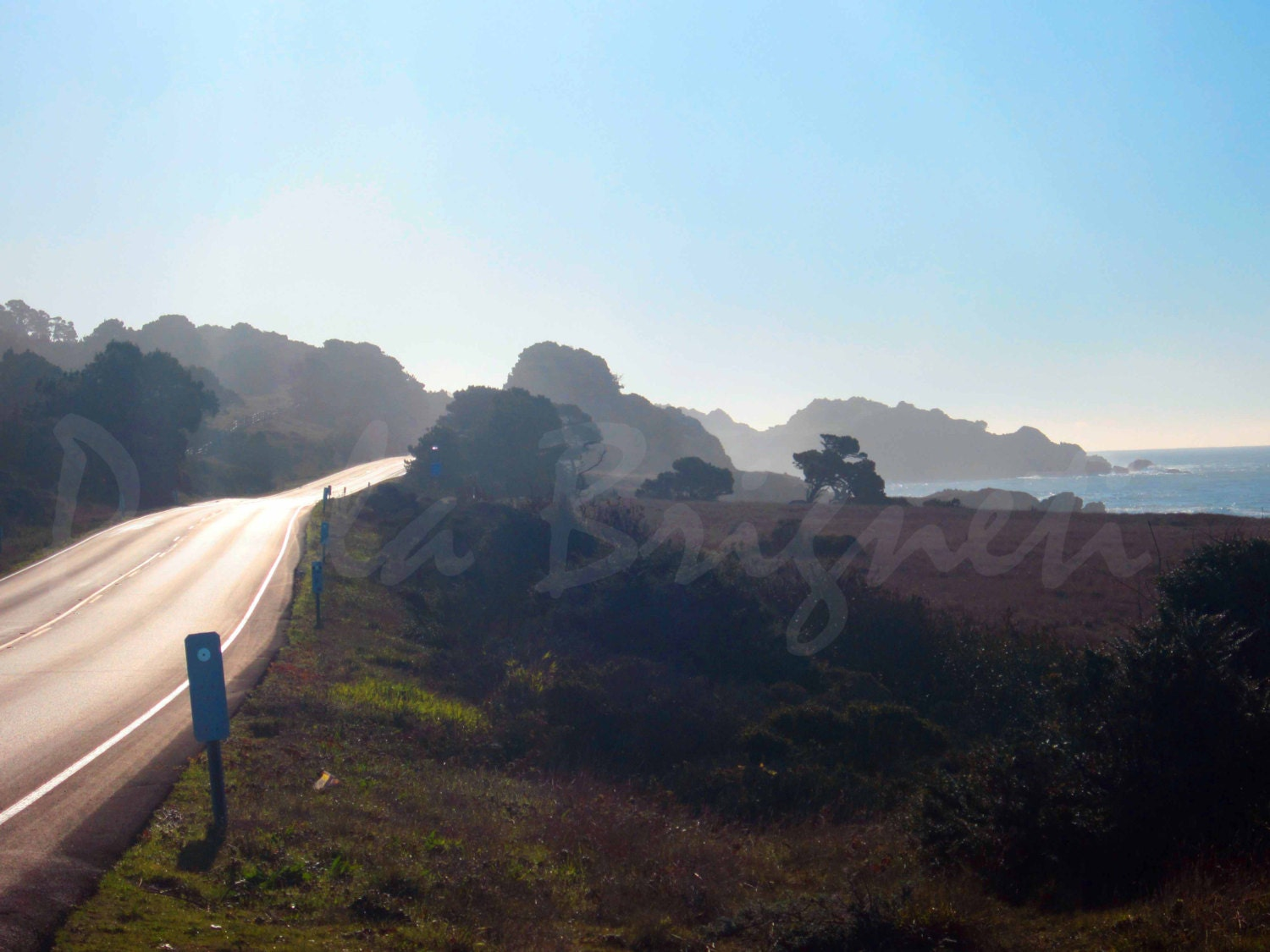 Highway 1 in the Early Morning - Road to Happiness - California - WorldPhotosByPaola
