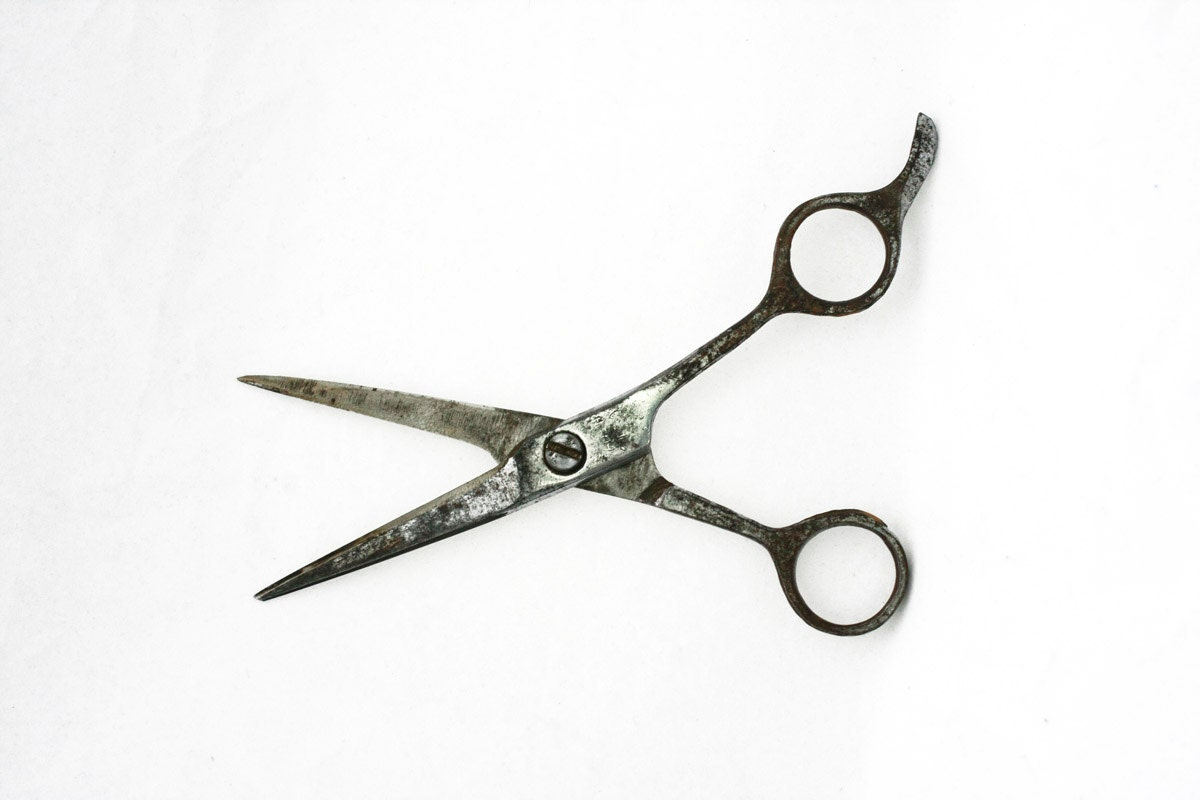 Vintage Rusted Scissors, Vintage Tools, Sewing Supplies, Black and white, Gift for her, ohtteam - RaffaelloVintage