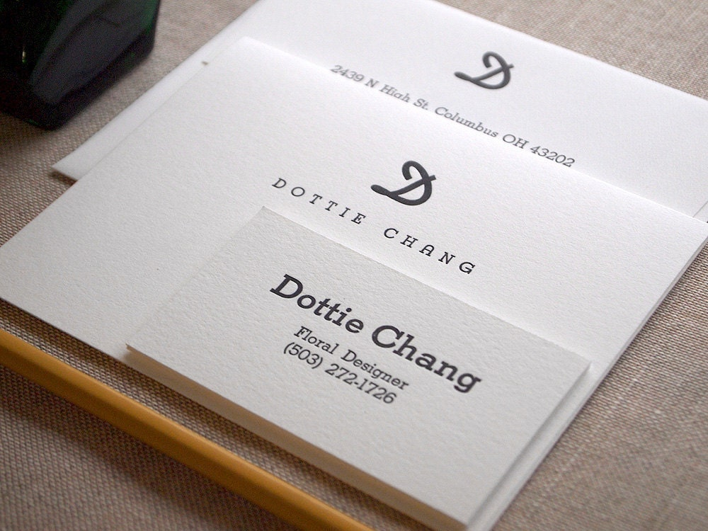 New letterpress calling cards seaborn press these days it seems as though more and more people are foregoing business cards and instead getting personal calling cards reminiscent of the victorian era colourmoves Gallery