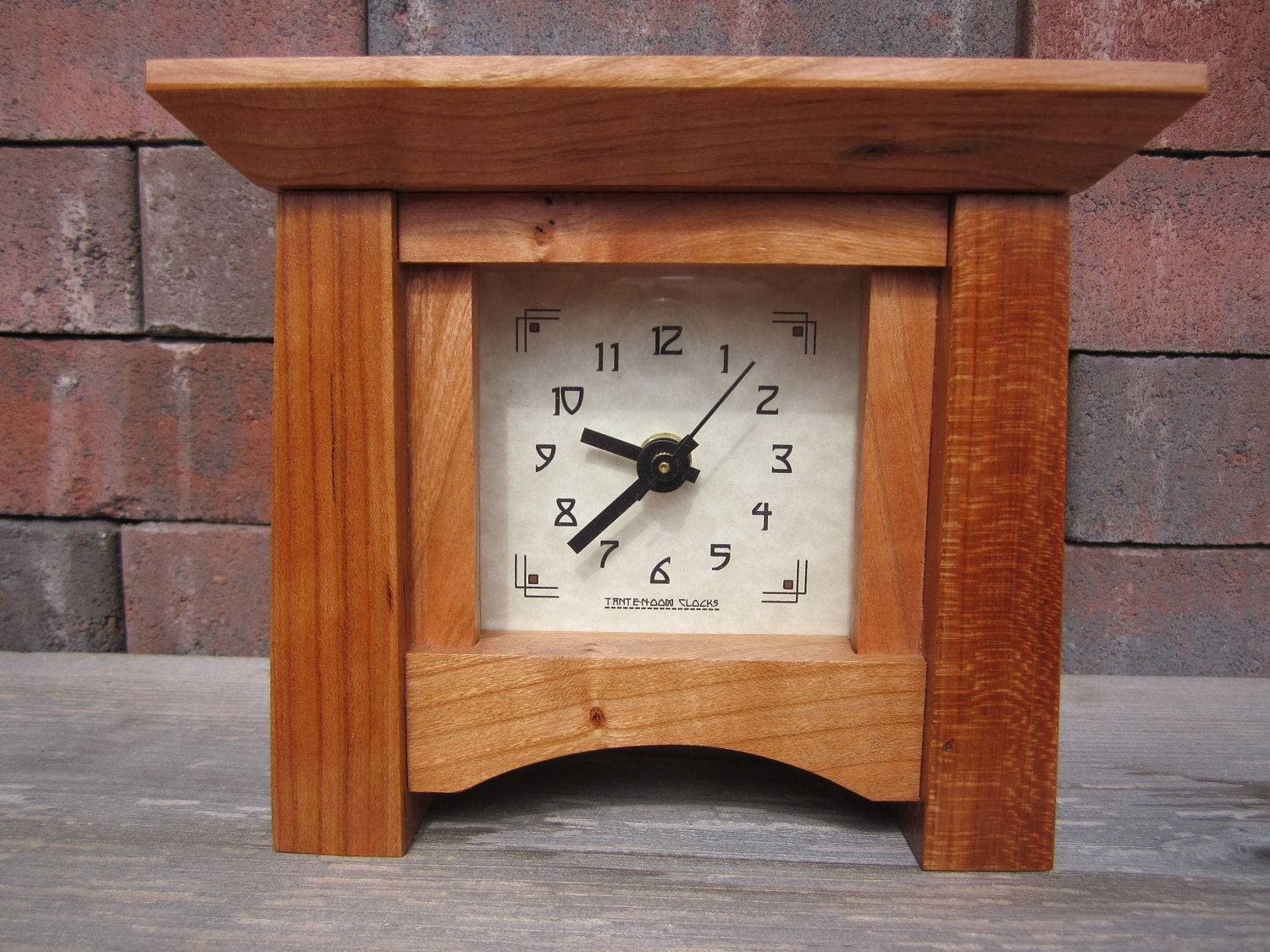 Mantel clock arts and crafts by tanteandoom on etsy for Arts and crafts mantle clock