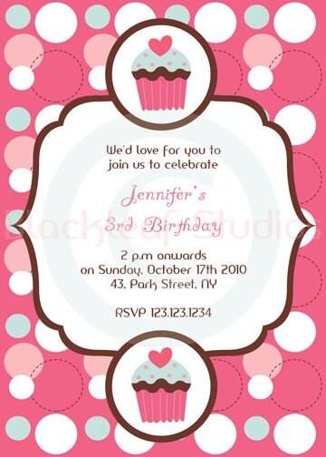 sweet cupcake invitation diy printable for baby by blackleafdesign