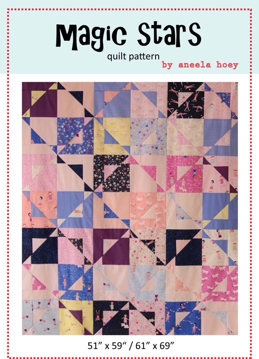 Magic Stars Pdf Quilt Pattern By Comfortstitching On Etsy