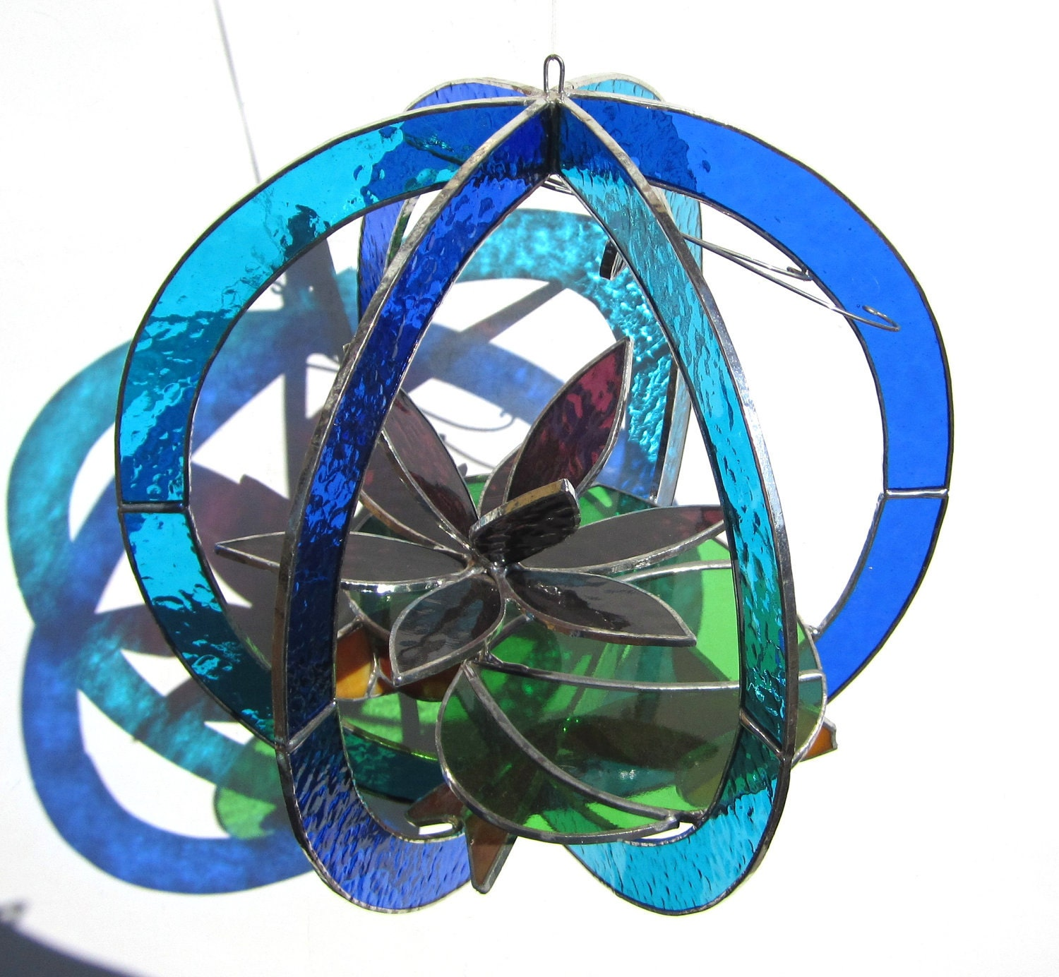 Water Garden Large Stained Glass 3d Sphere By Katiediditglass