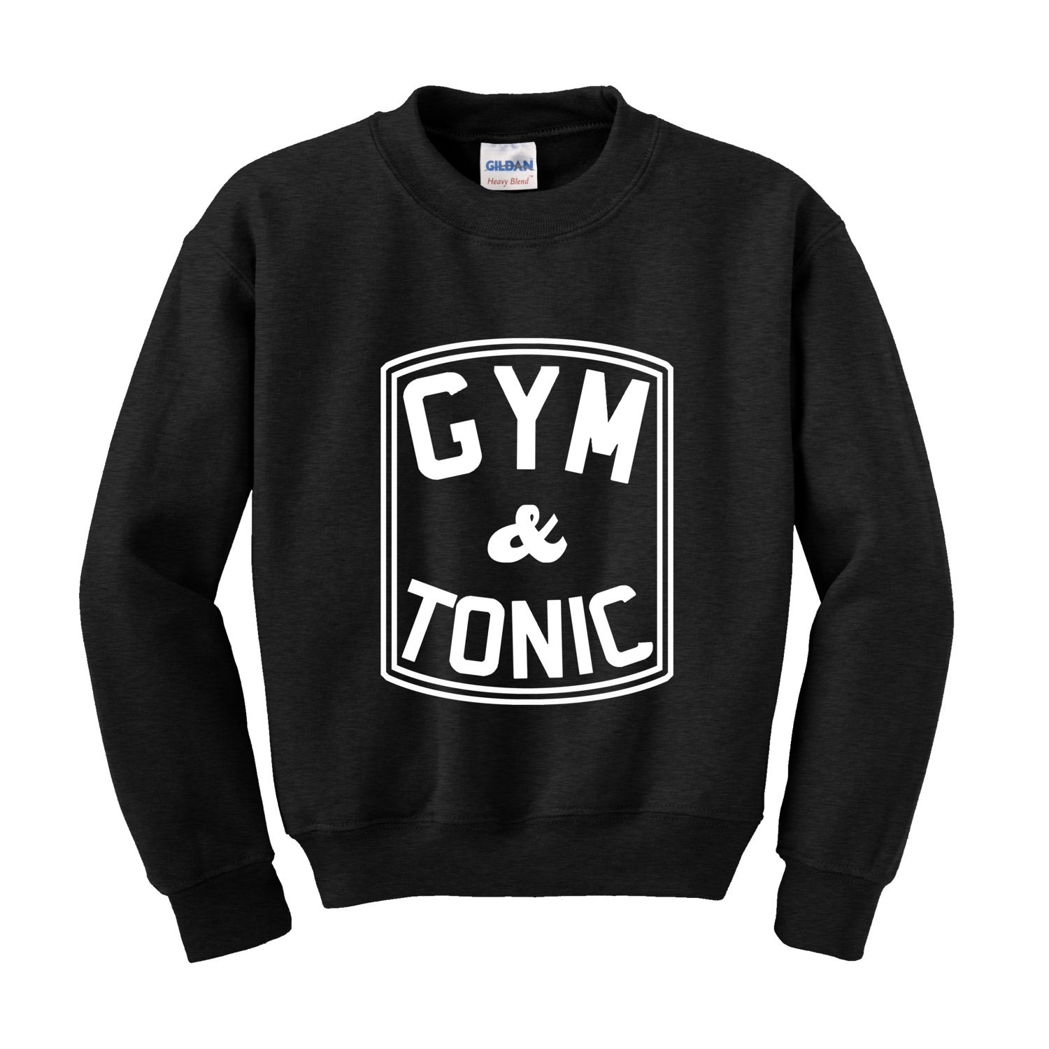 GYM  TONIC Slogan Sweatshirt Funny Fitness Training Top Sports Gin and Tonic